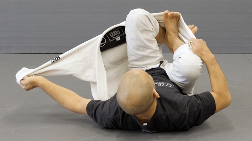 Barety Yoshida Solo BJJ Drill with Gi Jacket