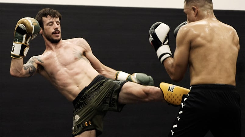 Kickboxing Sparring Session at The Arena